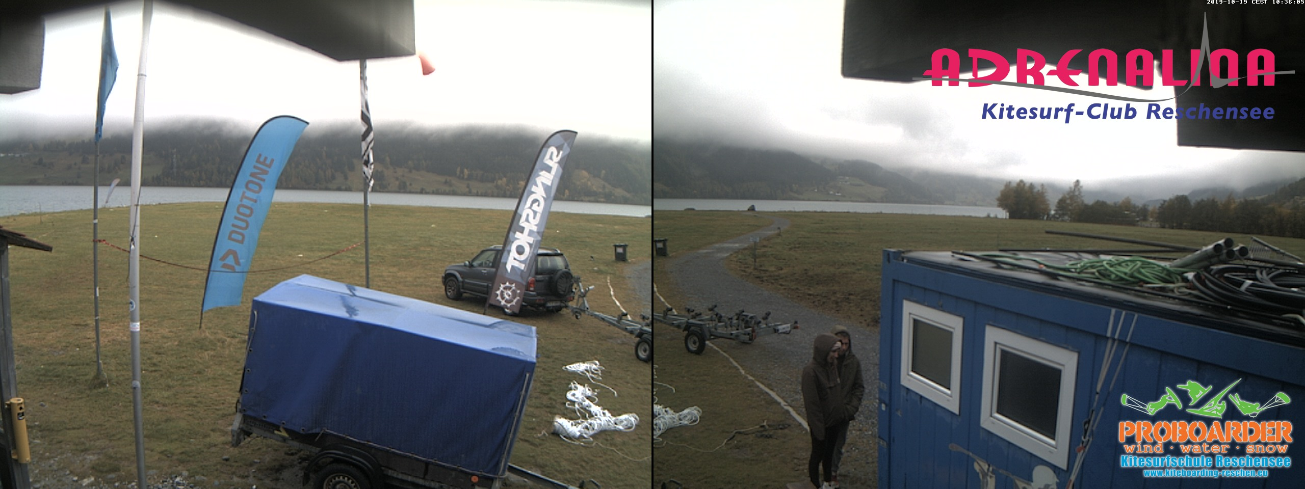 Webcam Reschenpass vom Adrenalina Kitesurf Club